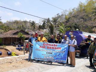 Sedekah air bersih jamaah masjid Al ikhlas CRM bekerjasama dengan IWRG( info warga rongkop girisubo) gunung kidul